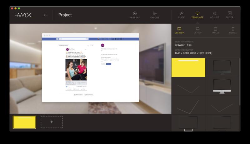 How to create an Facebook Ad mockup - Hamok